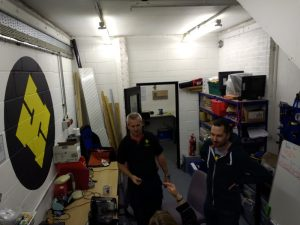 Cheltenham Hackspace's busy workshop area