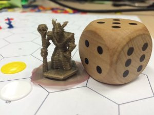 A quickly 3D printed game figure.